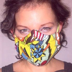 Accessories - Colorful face mask with pop art print